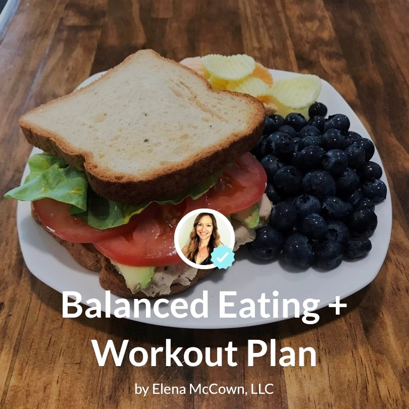 6 Week Menu Plan + Workouts: Balanced Eating + Workout Plan in a new cookbook by Elena McCown, LLC a health coach in Franklin, TN