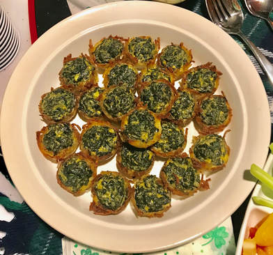 Mini Spinach Hash Brown Bites