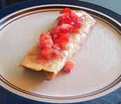 Strawberry Peanut Butter Crepes