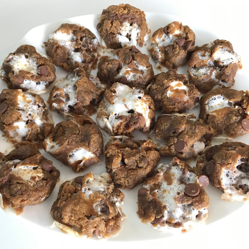 Flourless Peanut Butter S'mores Cookies: gluten-free recipes by Elena McCown, LLC a health coach in Franklin, TN