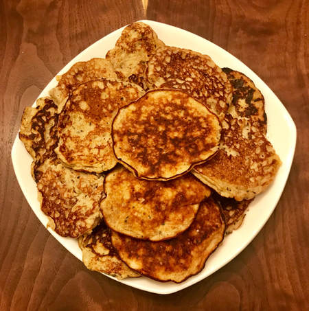 Banana Egg Pancakes: Elena McCown, LLC health coach in Franklin, TN gluten-free, dairy-free recipes