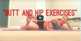 Butt & Hip Exercises for runners from Elena McCown, LLC Health Coach in Franklin, TN