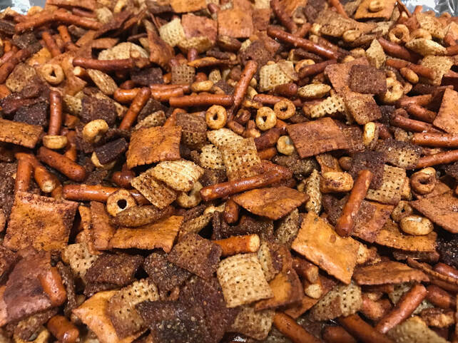 Gluten-Free Kentucky Bourbon Chex Mix: Gluten-free and dairy-free recipes by Elena McCown, LLC a health coach in Franklin, TN